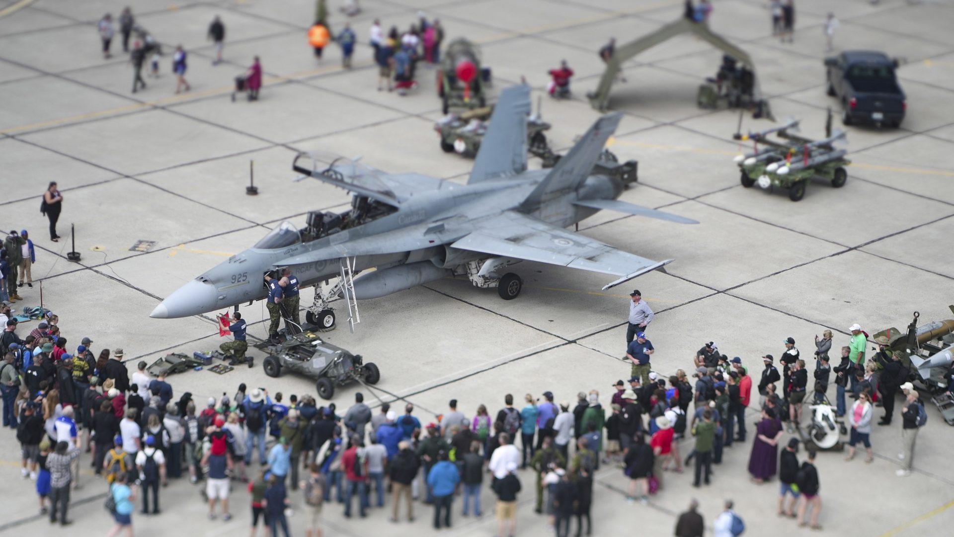 Static display at airshow - F-18