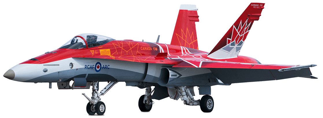 The Canadian Forces Snowbirds (431 Air Demonstration Squadron), Canada 150 CF-18 Hornet aircraft